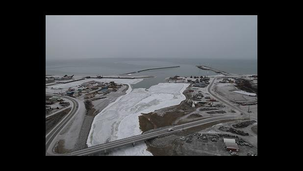 The port of Nome as seen from the air on Nov. 22, 2019.