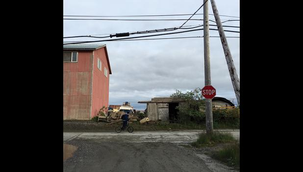CLEAR THE WAY—The City of Nome has announced an intent to reclaim a Tobuk Alley right-of-way from this point on Steadman Street north of Alaska Cab Garage extending westward to Spokane Street. Abutting property owners must remove encroachments by Sept. 1 or the City's public works department will remove encroachments and charge property owners.