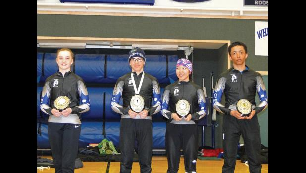 SKIMEISTER— Clara Hansen , Tobin Hobbs, Mallory Conger and Ben Cross won all four Skimeister titles at last weekend's WISA championships in White Mountain.
