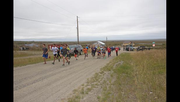 ANVIL MOUNTAIN CHALLENGE— Twenty-two runners took the Anvil Mountain 59-minute Challenge on Thursday, August 18.