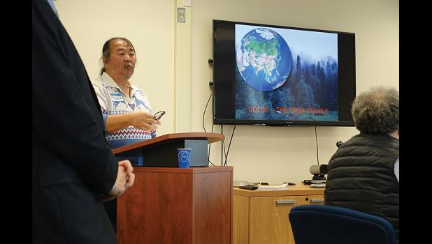 ACTIVIST— Pavel Sulyandziga, an indigenous rights activist of the Udege tribe, visited Nome last week on behalf of Arctic-FROST.