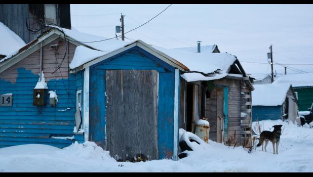 ON THE LIST—This small house at 207 Bering Street, is one of four structures on the City of Nome's current list for mandatory abatement or repair.