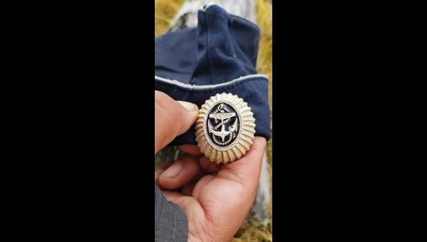 RUSSIAN SAILOR CAP— This cap was found Sept. 14, 2020 at Ivgaq, about 5 miles west of Savoonga, St. Lawrence Island.