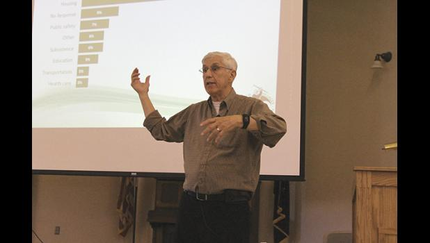 CVRF President Richard Jung held a presentation to overhaul the CDQ allocation formula  at Old St. Joe's on Friday, June 29.