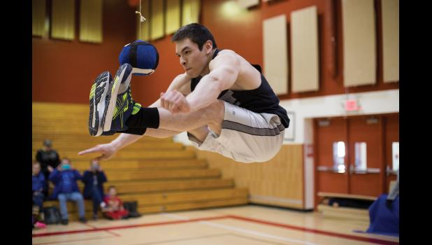 Dylon Crowe shows great form in the Two-Foot High Kick