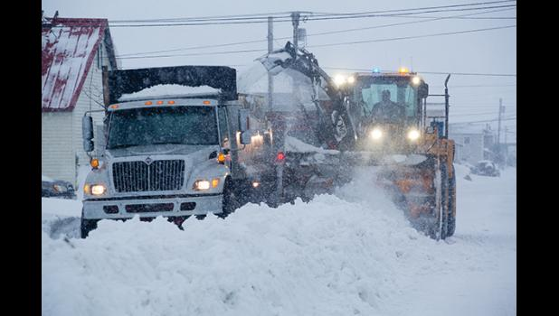 LOTS OF SNOW— Nome Public Works road crews hauled 11,556 truck loads of snow off Nome's streets.